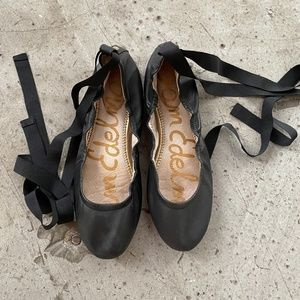 Edelman Fallon Lace-up Ballet Flat